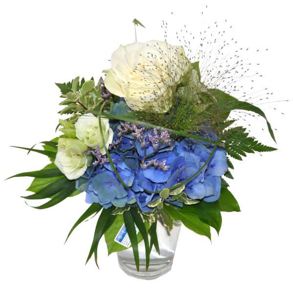 STRUB Blumenstrauss blau-weiss 190717-41