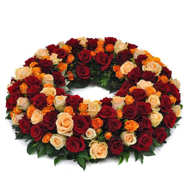 STRUB Blumenkranz orange-rot