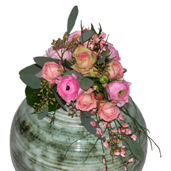 STRUB Urnenkranz rosa 110814-03