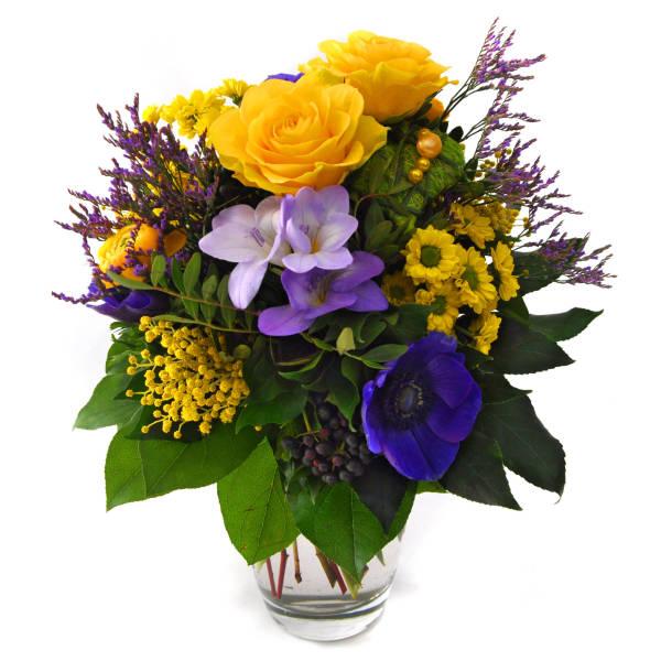 STRUB Blumenstrauss gelb mit Herz